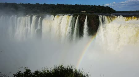 diabolo : Panoramic view of the massive Iguazu Waterfalls system in Argentina