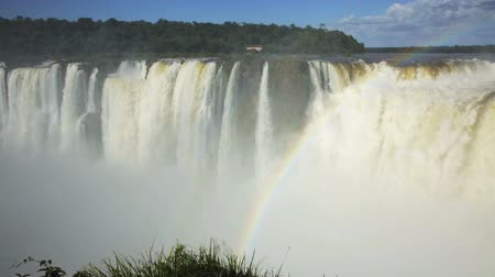 diablo : Largest waterfall Garganta del Diablo on Iguazu River, Iguazu National Park, Argentina Stock Footage
