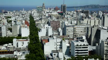 montevideo : Panoramic view of buildings and streets of capital of Uruguay, Montevideo. Uruguay, South America