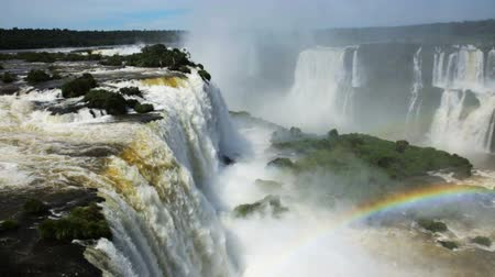 brasil : General view on the grand Iguazu Waterfalls system in Brazil