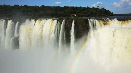 diabolo : General view on the grand Iguazu Waterfalls system in Argentina