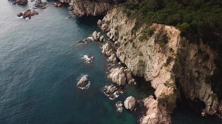 forestal : Aerial view of the rocky coastline of the Mediterranean Sea near Tossa de Mar, Spain