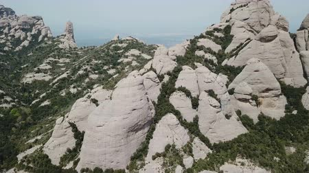 forestal : Aerial view of picturesque rocky landscape Montserrat, Spain