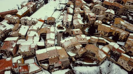 weather conditions : Gosol is a village in winter located in the northwest in Catalonia