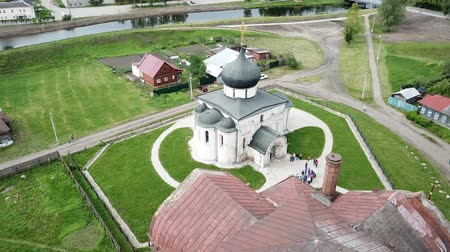 православие : Aerial view of St. George Cathedral cathedral in Yuryev-Polsky, Russia