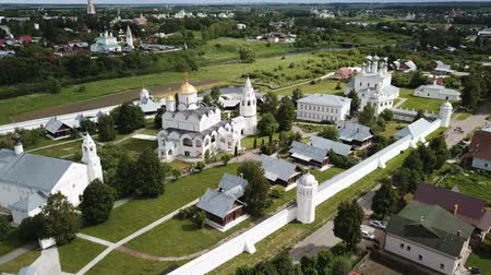 православие : Panoramic aerial view of Pokrovsky monastery in Suzdal, Russia
