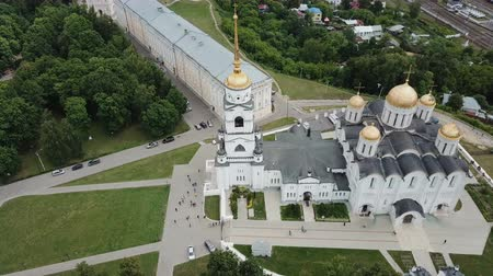 klyazma : Picturesque city of the Dome of the Cathedral. Dmitrii, Russia