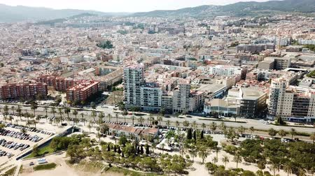 port n : Aerial view of the landscape of Mataro in the Spain.