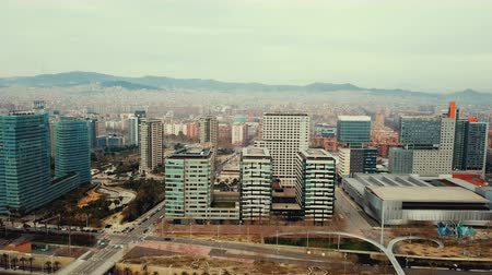 scape : Panoramic view of modern areas in coastal zone of Barcelona