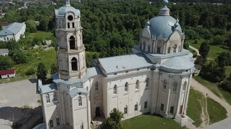 forestal : Peculiar architecture of the Trinity Cathedral in Gus-Zhelezny, combining elements of baroque, Stock Footage