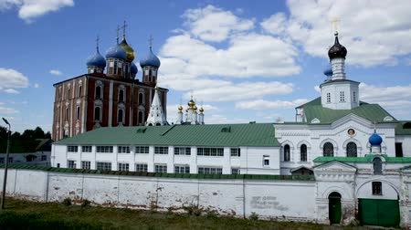 cloud scape : View of Ryazan Kremlin - oldest historical and architectural monument of Russia