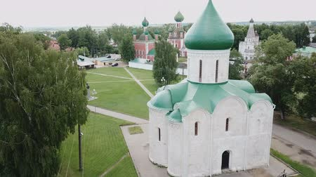 православие : Aerial view of the Spaso-Preobrazhensky cathedral in Pereslavl-Zalessky, Russia