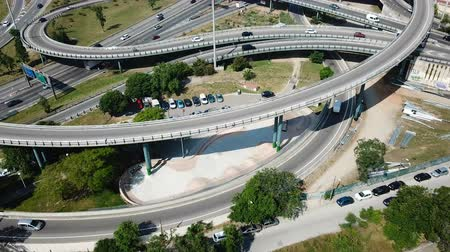 fare : View on car interchange of Barcelona in the Spain. Stock Footage