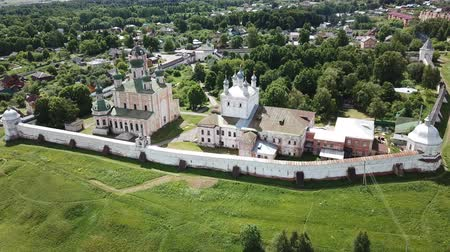 within : Aerial view of the Pereslavl-Zalessky Historical Museum established within the territory of the Goritsky Assumption Monastery, Russia