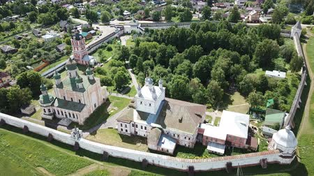 forestal : Aerial panoramic view of the architectural ensemble of Goritsky Monastery of Dormition in Pereslavl-Zalessky, Russia