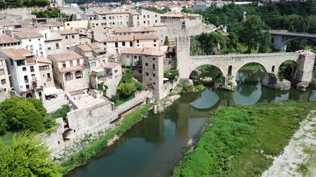 reddish : Panoramic view of the Besalu River