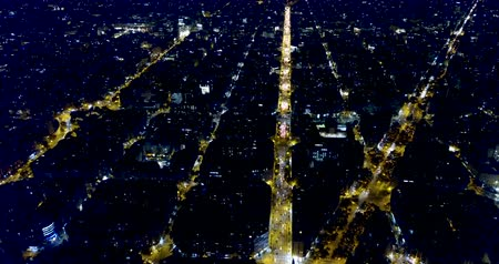 metropolitan area : Barcelona at night, Spain