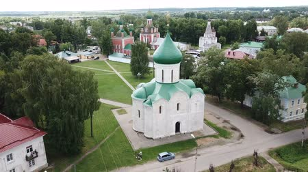 ortodoxia : Aerial view of the Spaso-Preobrazhensky cathedral in Pereslavl-Zalessky, Russia