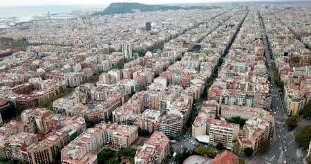 cloud scape : Aerial view of Barcelona, Spain