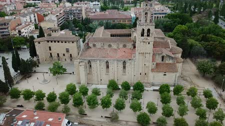 romanesk : View from the Benedictine abbey in Sant Cugat del Valles, Catalonia, Spain