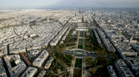 architecture and urbanism : Picturesque aerial view of Paris townscape at autumn