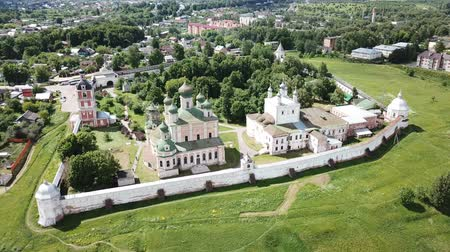 epiphany : Aerial view of the Pereslavl-Zalessky Historical Museum established within the territory of the Goritsky Assumption Monastery, Russia