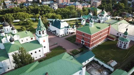 святой : Panoramic aerial view of Spaso-Preobrazhensky monastery in Murom