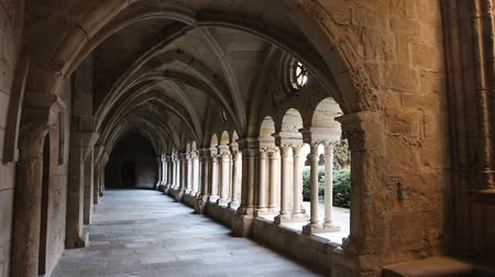 voute : Cloister of Santa Maria de Vallbona, Urgell, Catalonia, Spain