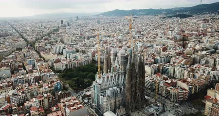 pyreneje : BARCELONA, SPAIN - NOVEMBER 19, 2018: Anthony Gaudi designed by Sagrada Familia