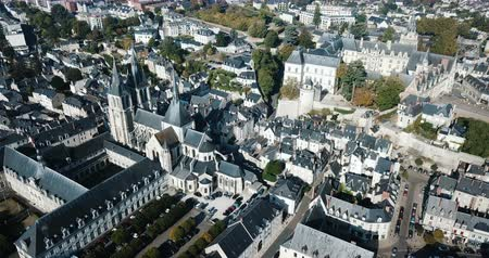 romanesk : View from the city of Blois Nicolas in sunny autumn day