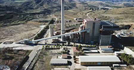baca : Closed thermal power plant in Escucha. Spain