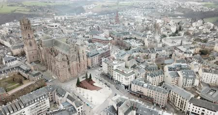 episcopal : French city of Rodez in winter day