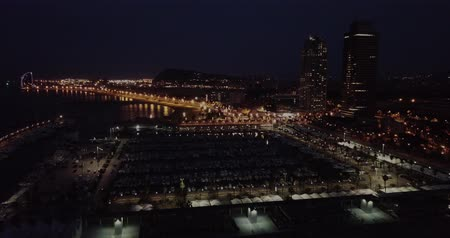 night scape : Nightlife in Barcelona, ??Spain Stock Footage