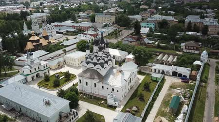 annunciation : Aerial view of the architectural ensemble of the Annunciation Monastery and Holy Trinity Stock Footage