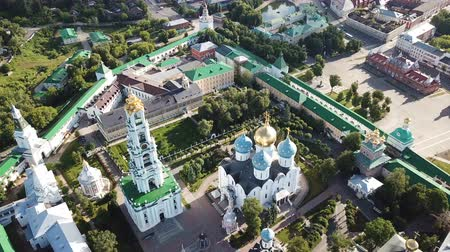 dron : View from drones of churches in Trinity Sergius Monastery, Sergiyev Posad