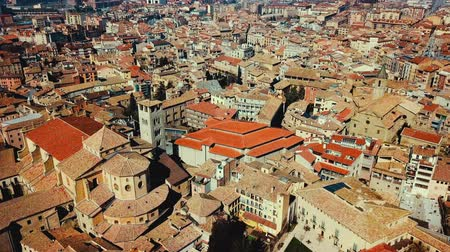 romanesk : Aerial view of the historic center of the Spanish town of Vic, Catalonia
