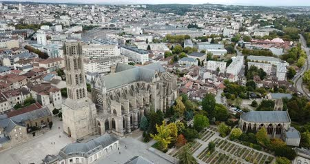 santuário : Aerial view of Saint-Etienne Cathedral in Limoges, France