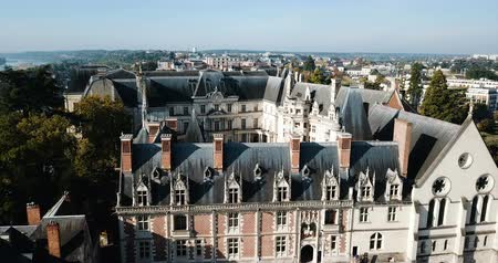renaissance : BLOIS, FRANCE - OCTOBER 09, 2018: View from the city of France Stock Footage
