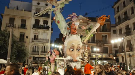 marionet : Valencia, Spain - March 18, 2019: Valencia during the New Year of the Falles Spring Festival