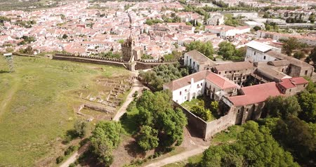 fortificado : Local landscape of Montemor-o-Novo municipality with ruined medieval castle, Portugal
