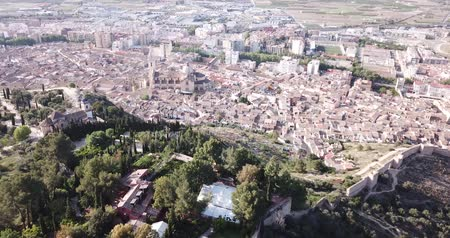 maria : View of the Roman Catholic Church of the Xativa on the background of residential areas