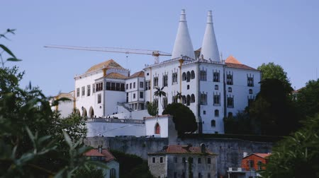 residência : National Palace of Sintra. Panoramic view from drone. Portugal