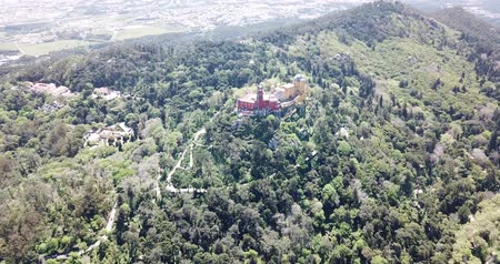 forestal : Pena Palace, Portugal Stock Footage