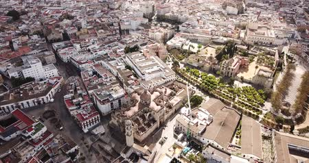 andalucia : Aerial view of the city of Jerez de la Frontera. Spain Stock Footage