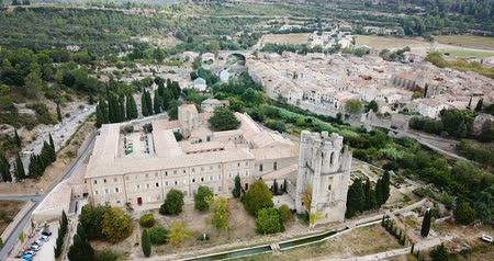 hegytömb : Benedictine monastery of Saint Mary in French commune of Lagrasse