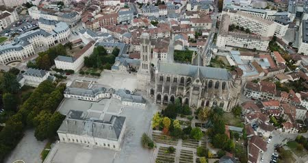 епископ : Aerial view of Saint-Etienne Cathedral in Limoges, France