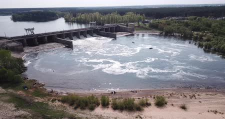 voronezh : Landscape with dam on river near Voronezh, Russia