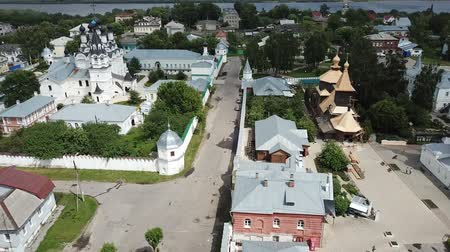 annunciation : Panoramic aerial view of Trinity and Annunciation Monasteries in Murom Stock Footage