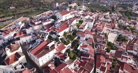 reddish : Portuguese episcopal city of Elvas in spring day