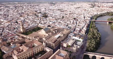 mór : Mozquita-Catedral on background with Cordoba cityscape, Spain